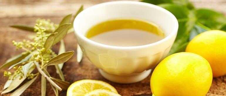 Помощь волосам оливковым маслом и лимонным